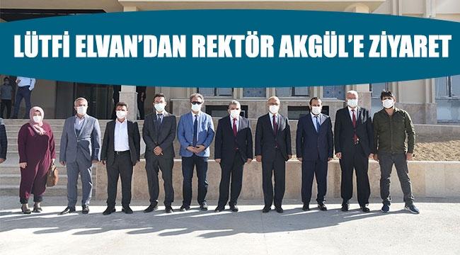 LÜTFİ ELVAN'DAN REKTÖR AKGÜL'E ZİYARET
