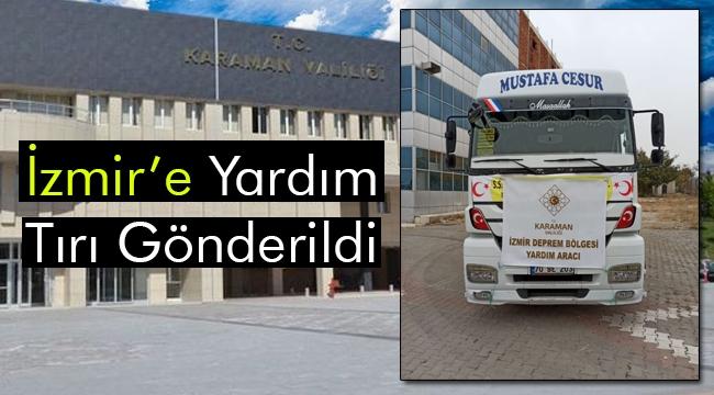 İzmir'e Yardım Tırı Gönderildi