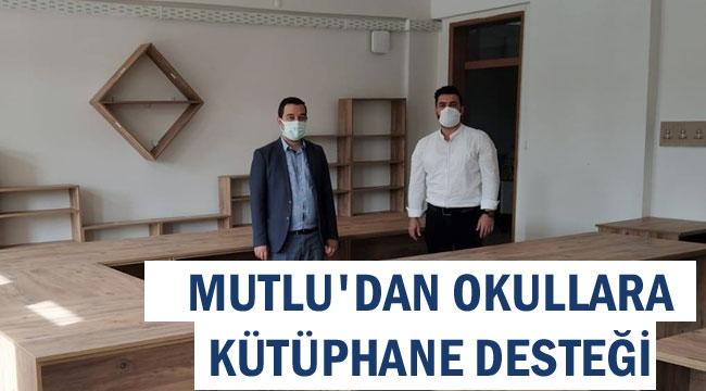 MUTLU'DAN OKULLARA KÜTÜPHANE DESTEĞİ