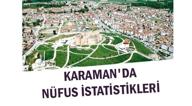 KARAMAN'DA SON NÜFUS KAYIT VERİLERİ