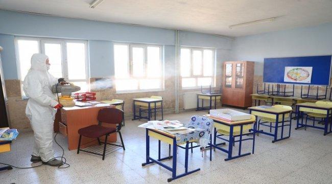 Pamukkale'de okullar öğrenciler için hazırlanıyor