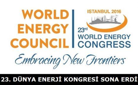 23. Dünya Enerji Kongresi Tamamlandı