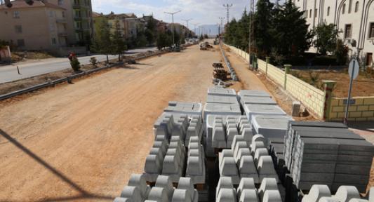 Alparslan Türkeş Bulvarında çalışmalar sürüyor