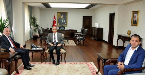 Ankaramander Başkanı Bozkır, Vali Tapsız'ı Makamında Ziyaret Etti