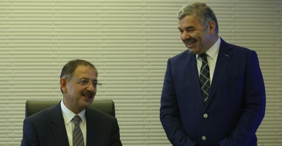Bakan Özhaseki, Başkan Mustafa Çelik'i ziyaret etti