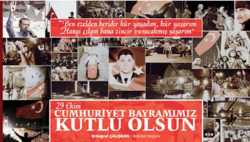 Ertuğrul Çalışkan, 29 Ekim Cumhuriyet Bayramı mesajı