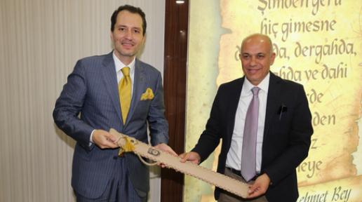 Fatih Erbakan, Belediye Başkanı  Çalışkan'ı Ziyaret Etti