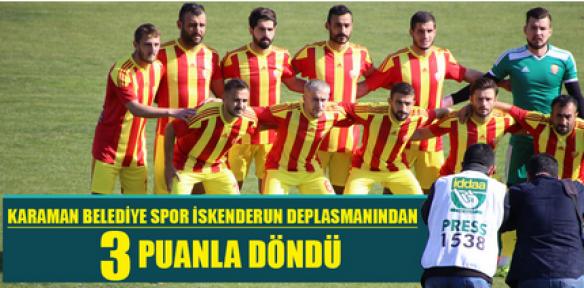 Karaman Belediye Spor, 3 puan aldı