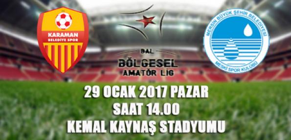Karaman Belediye Spor, Mersin Büyükşehir misafir edecek