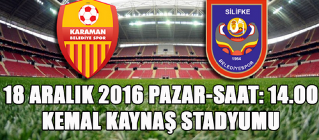 Karaman Belediye Spor, Silifke Belediye Sporu misafir edecek