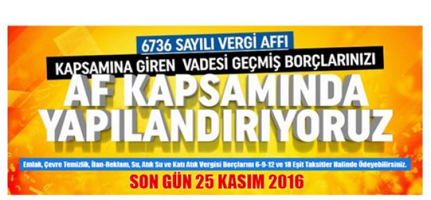 Karaman Belediyesi Borç Ödeme  Uyarısı Yaptı