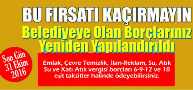 Karaman Belediyesi'nde Borçlarınızı Yapılandırabilirsiniz