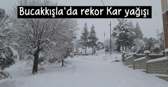 Karaman Bucakkışla'da rekor kar yağışı