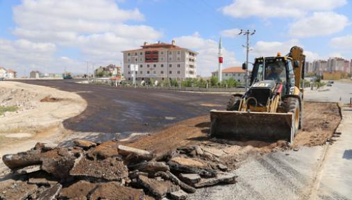 Karaman toki yolu asfaltı tamamlandı