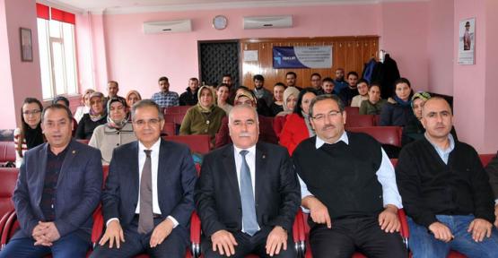 Karaman Valisi Tapsız Esnaf Odalarının Temsilcileriyle görüştü
