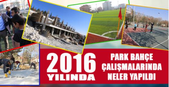 Karaman'da 2016 yılında park bahçe çalışmaları