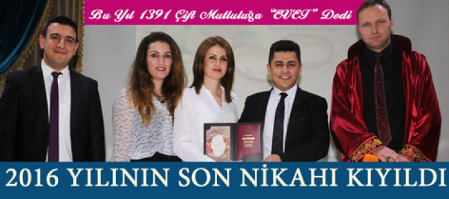 Karaman'da 2016 yılının son nikahıda kıyıldı
