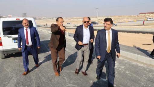 Karaman'da Başkan Çalışkan, çalışmaları yerinde inceledi