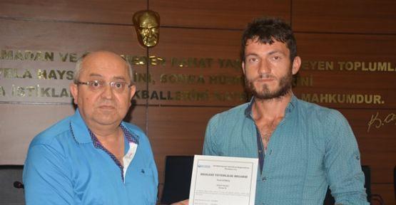 Karaman'da Başkan Toktay kursiyerlere sertifika verdi