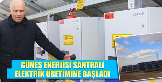 Karaman'da Güneş Enerjisi ile elektrik üretiliyor