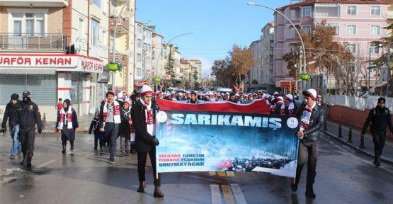 Karaman'da Sarıkamış yürüyüşü