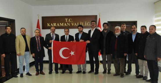 Karaman'da Sivil Toplum Kuruluşları Vali Tapsız'ı Ziyaret Etti