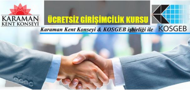 Karaman'da ücretsiz girişimcilik eğitimi verilicek