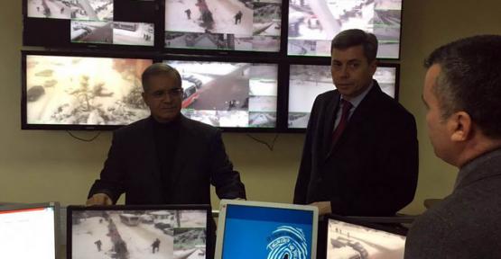 Karaman'da, Vali Tapsız MOBESE Merkezini ziyaret etti