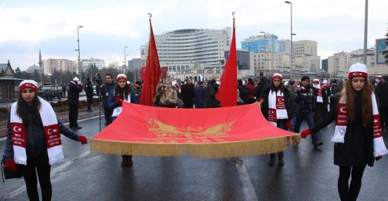 Kayseri'de Sarıkamış Harekatı'nın 102. Yıldönümü Anma Yürüyüşü