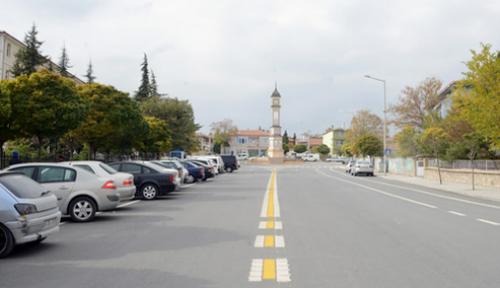 Konya Yunak'ta 5 caddede düzenleme tamamlandı