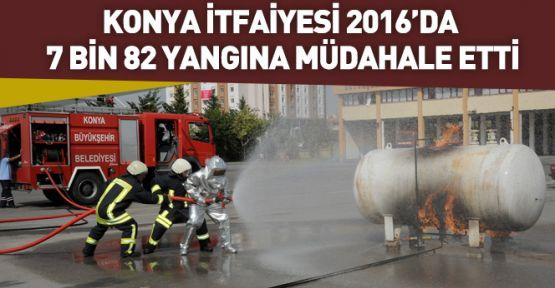 Konya'da  2016 yılında 7 Bin 82 Yangına Müdahale Edildi