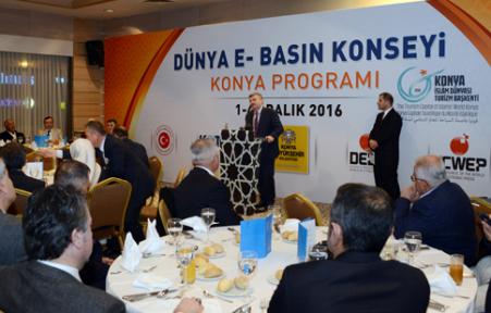 Konya'da Dünya E-Basın Konseyi Çalıştayı Düzenlendi