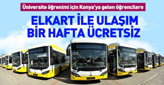 Konya'da elkart ile ulaşım  bir hafta ücretsiz