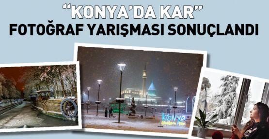Konya'da Kar konulu fotoğraf yarışması sonuçları açıklandı