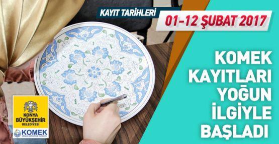 Konya'da KOMEK kayıtları büyük ilgi gördü