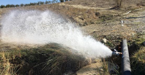 Mersin Büyükşehir, tarımsal sulama çalışmalarına devam ediyor