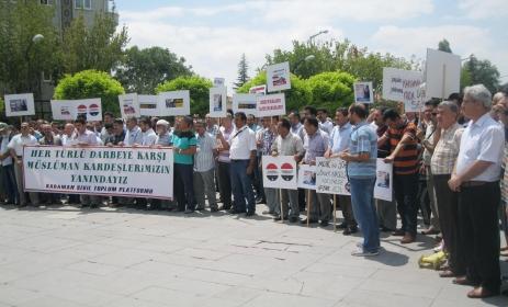 Mısırdaki Direnişe Karaman'dan destek
