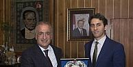 Başkan Saim Köroğlu'ndan Rektör Çomaklı'ya veda ziyareti