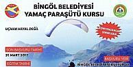 Bingölde ücretsiz yamaç paraşütü kursu açılıyor