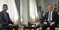 Karaman Valisi Tapsız, Gazi Uğur Yılmazı  kabul etti