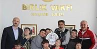 Özel Eğitim Uygulama Merkezi, Birlik Vakfı Başkanı Leblebici'yi ziyaret etti