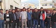 Yağmur yağınca ücretleri kesilen madenciler işi bıraktı