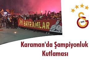 Karaman'da Şampiyonluk Kutlaması
