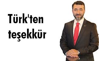 Türk'ten teşekkür