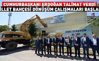 Cumhurbaşkanı Erdoğan Talimat Verdi Millet Bahçesi Dönüşüm Çalışmaları Başladı