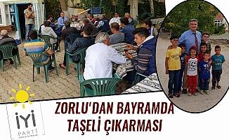 ZORLU'DAN BAYRAMDA TAŞELİ ÇIKARMASI