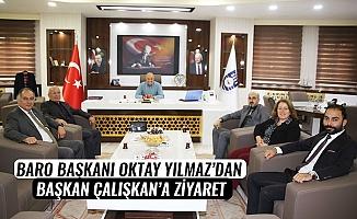 BARO BAŞKANI OKTAY YILMAZ'DAN BAŞKAN ÇALIŞKAN'A ZİYARET