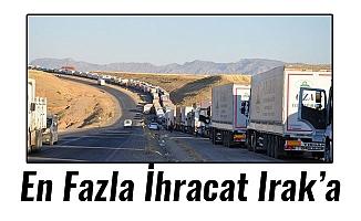 En Fazla İhracat Irak'a