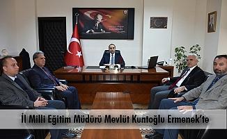 İl Milli Eğitim Müdürü Mevlüt Kuntoğlu Ermenek'te