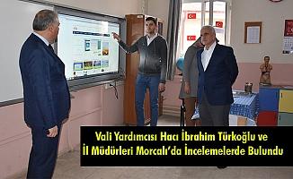 Vali Yardımcısı Hacı İbrahim Türkoğlu ve İl Müdürleri Morcalı'da İncelemelerde Bulundu